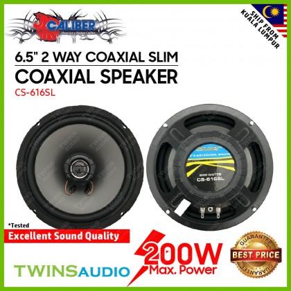 """Caliber Car Speaker CS-616SL - 6.5"""" 2 Way Coaxial Slim Car Speakers"""