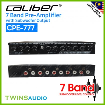 CALIBER CPE-777 7BAND CAR PRE -AMP with Subwoofer Output 2021 New Model