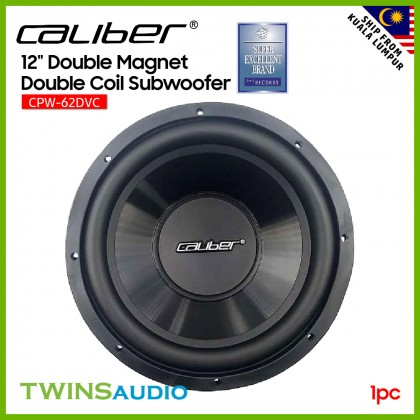 """Caliber Car Speaker CPW-62DVC - 12"""" Double Magnet Double Coil Subwoofer"""