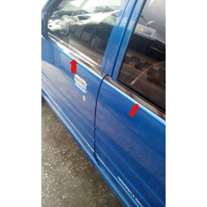 Perodua Kancil sporty chrome style window trims full cover set (4pcs)