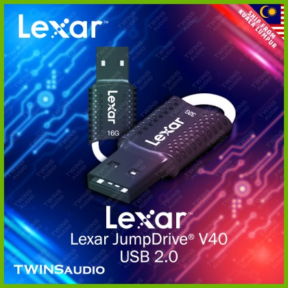 Lexar® JumpDrive® V40 USB Flash Drive Support OTG Pendrive USB Disk for PC and Mac System