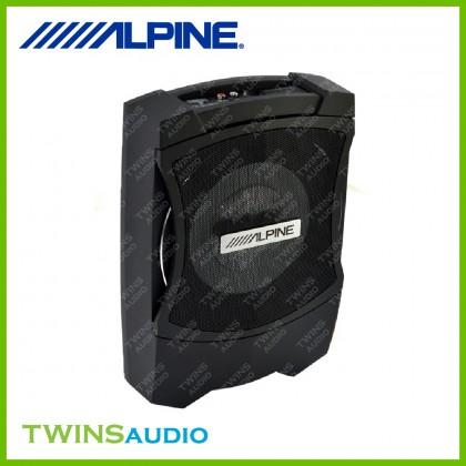 ALPINE PWE-T0800C Underseat Subwoofer 8 Inch Super Compact Active Subwoofer